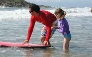 Learn how to surf california